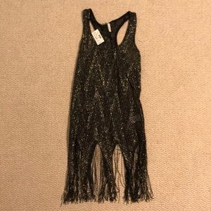 NWT Maurice's Tank with Fringe Detail